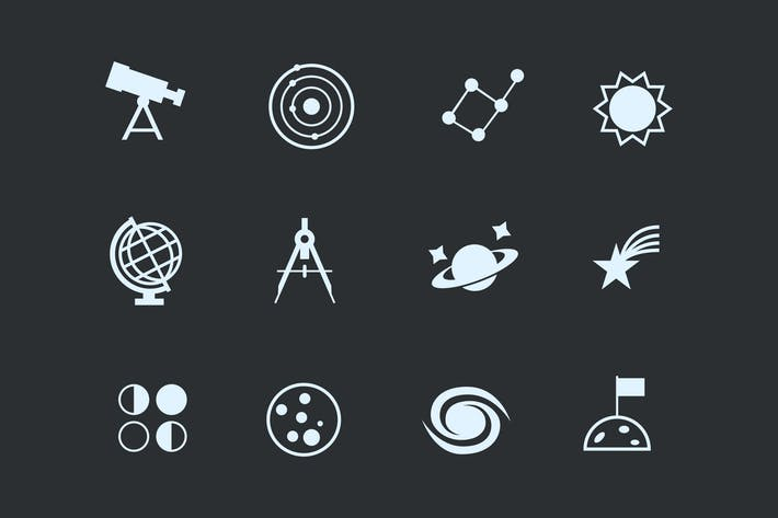 Thumbnail for 12 Astronomy and Space Icons