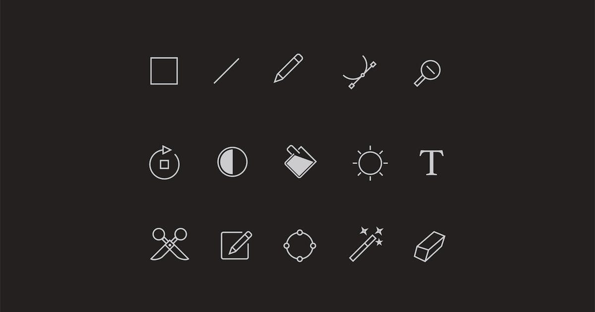 Download 20 Editor Toolbar UI Icons by Unknow