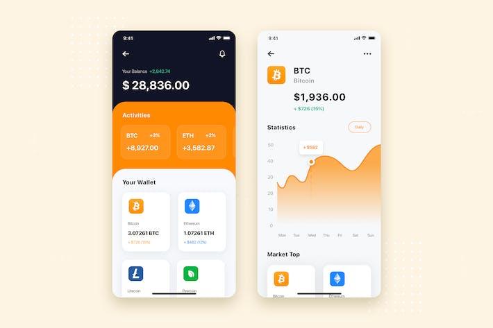 Thumbnail for Stock Market Mobile App UI Kit Template