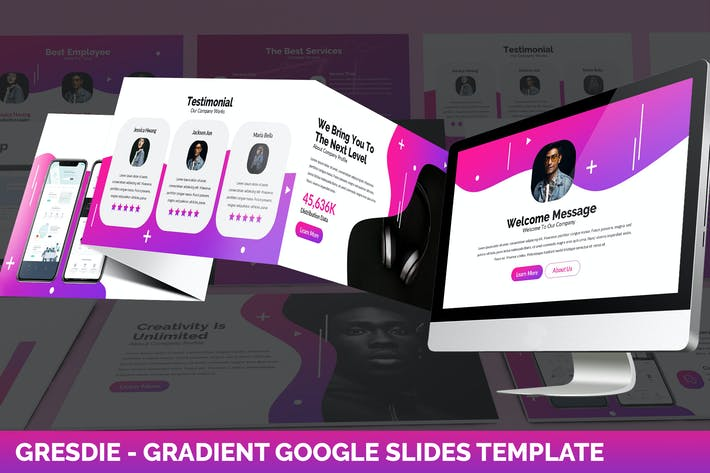 Thumbnail for Gresdie - Gradient Abstract Google Slides Template