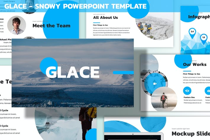 Thumbnail for Glace - Snowy Powerpoint Template