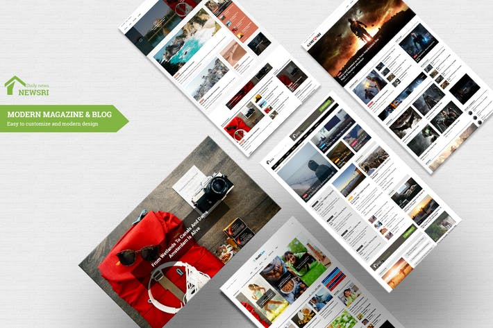 Thumbnail for Newsri - Magazine PSD Template