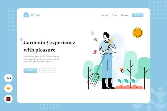 Thumbnail for Enjoy Gardening - Website Header - Illustration