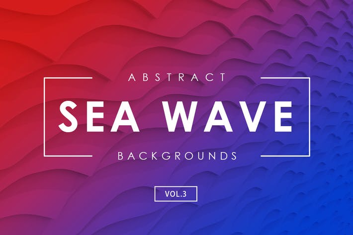 Cover Image For Sea Wave Abstract Backgrounds Vol.3