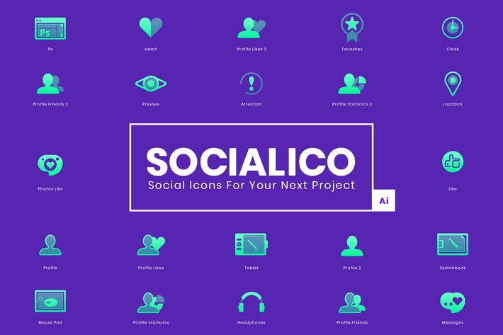 Thumbnail for Socialico Icons