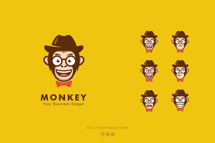 Thumbnail for Monkey Mascot Cartoon Logo