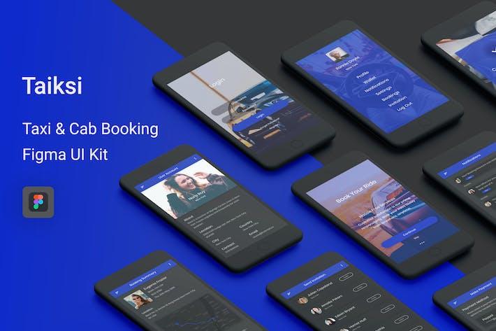 Thumbnail for Taiksi - Такси и такси Бронирование Figma UI Kit
