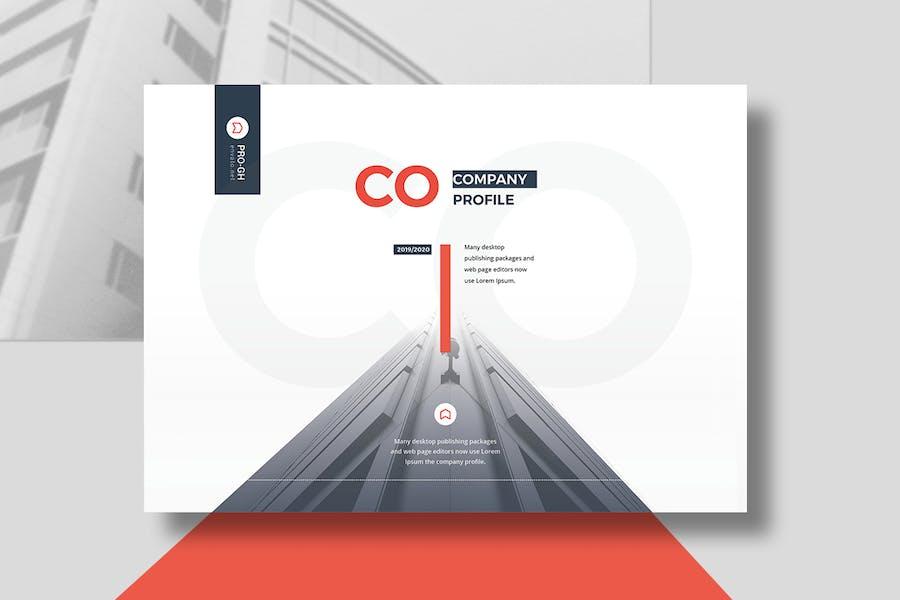 Company Profile Landscape A5