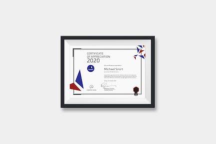 Landscape Modern Certificate