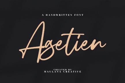 Agetien - Fuente manuscrita