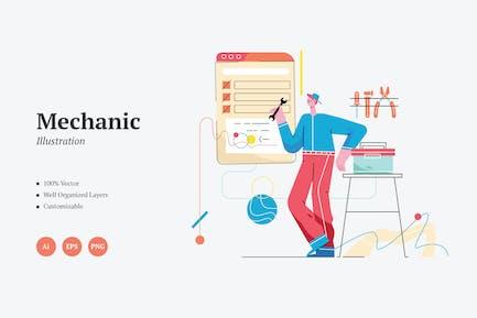 Mechanische grafische Illustration