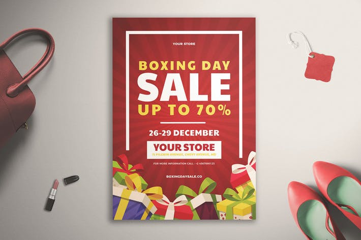 Cover Image For Boxing Day Sale Flyer Vol. 01