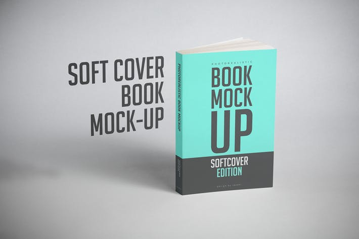 Thumbnail for Softcover Book Mock-up