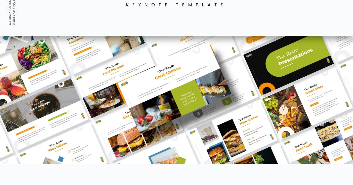 Download The Resto - Keynote Template by aqrstudio