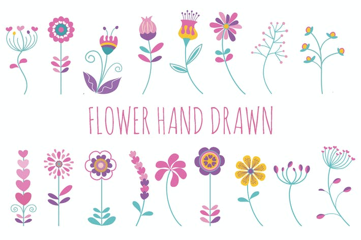Thumbnail for Flower Hand Drawn