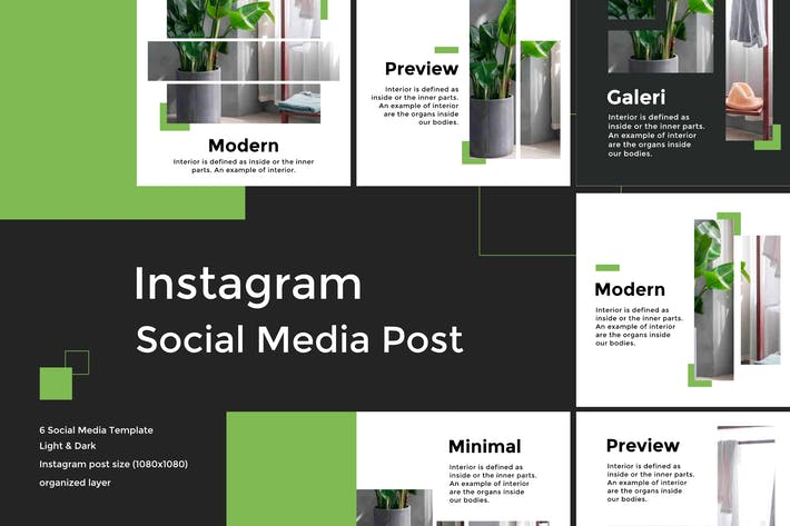 Thumbnail for Minimalist Social Media Template vol 4