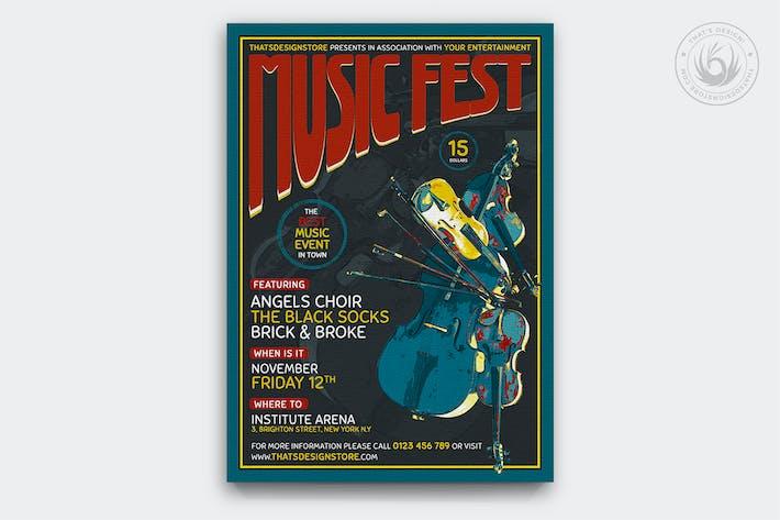 Thumbnail for Music Festival Flyer Template V6