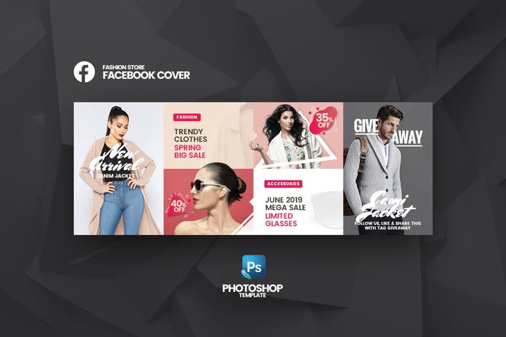 Thumbnail for Big Sale Fashion Store Facebook Cover Template