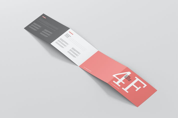 Thumbnail for 4-Fold Brochure Mockup - Din A4 A5 A6 Landscape