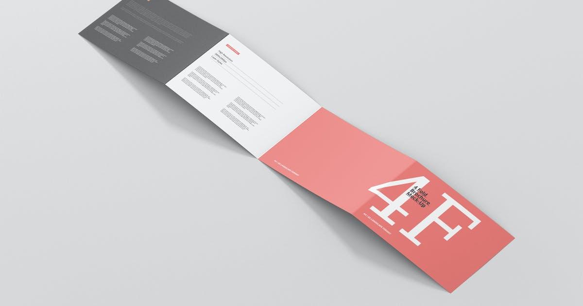 Download 4-Fold Brochure Mockup - Din A4 A5 A6 Landscape by visconbiz