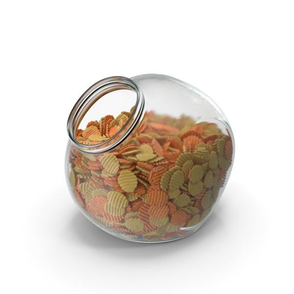 Thumbnail for Sphärisches Glas mit gemischten Crinkle Cut gewellten Kartoffelchips