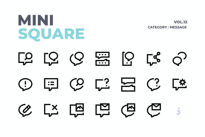 Thumbnail for Mini square - 60 Message Icons