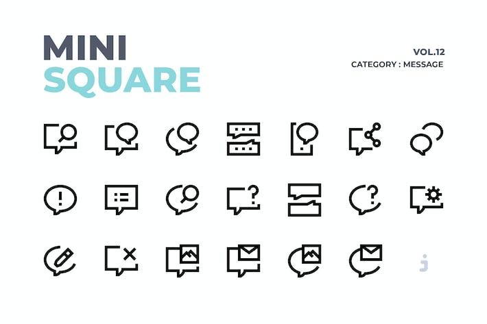 Thumbnail for Mini cuadrado - 60 Íconos de mensaje