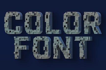 Geometría futura - Fuente SVG Color