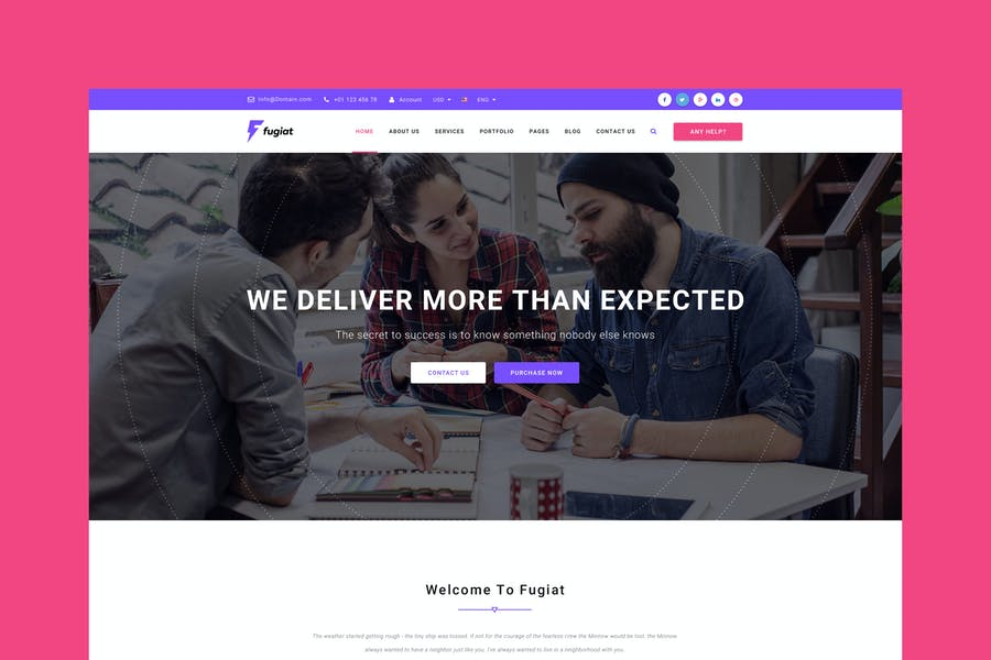 Fugiat - Material Design PSD Template