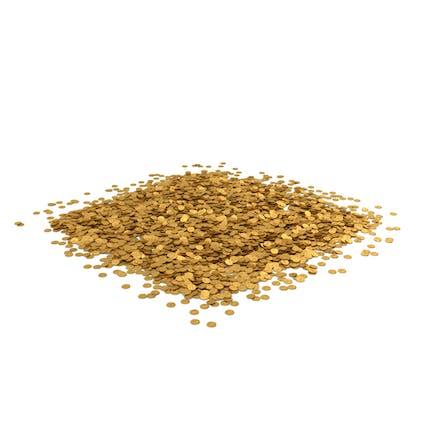 Münzhaufen Gold