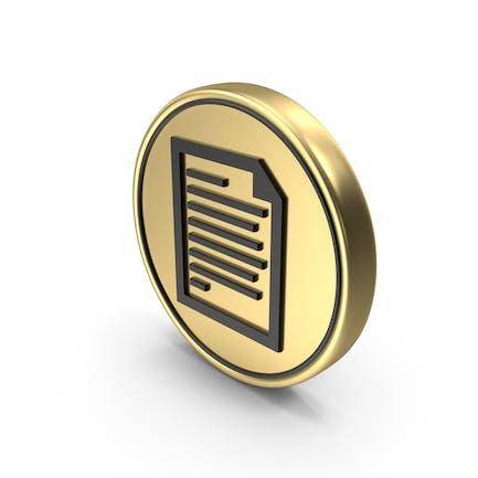 Icono del Logo de la moneda de la página