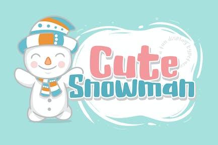 Muñeco de nieve lindo