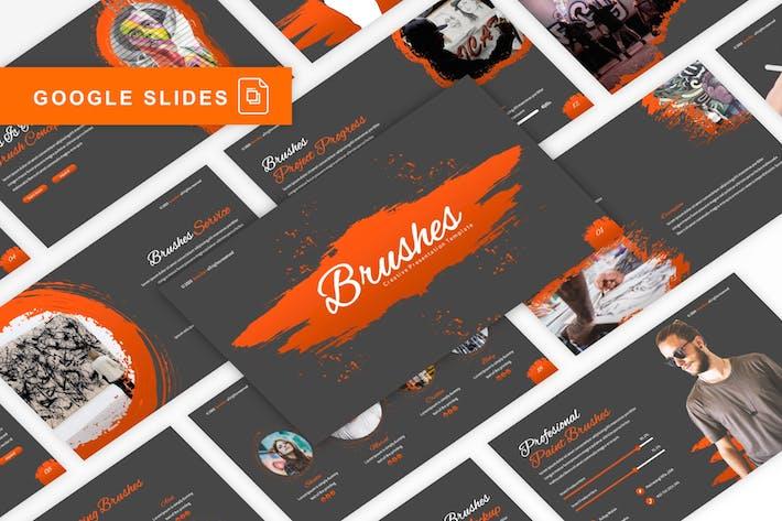Brushes - Creative Google Slides Template