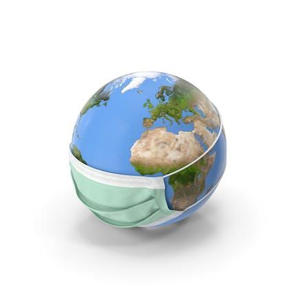 Erde stilisiert mit Maske