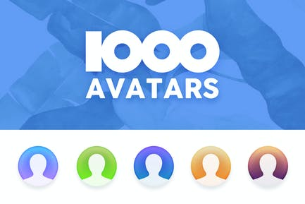 1000 Avatar Placeholders