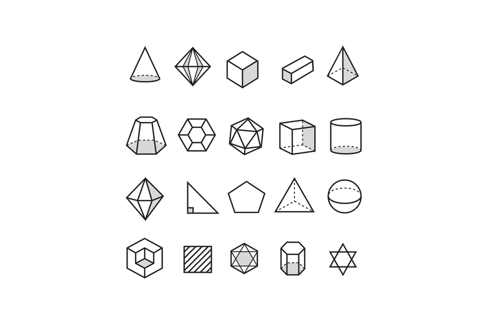 Cover Image For 20 Geometric Icons