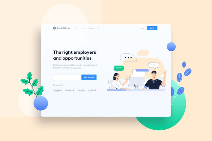 Thumbnail for Applicant Interview Landing Page Header Website