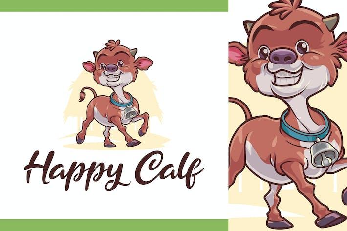 Thumbnail for Happy Calf Character - Dairy Farm & Livestock Logo