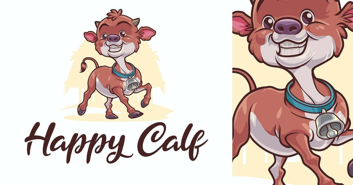 Download Happy Calf Character - Dairy Farm & Livestock Logo by Suhandi