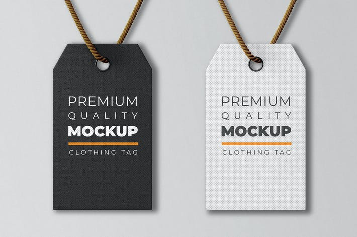 Thumbnail for Kleidung Tag Mockup Vorlage
