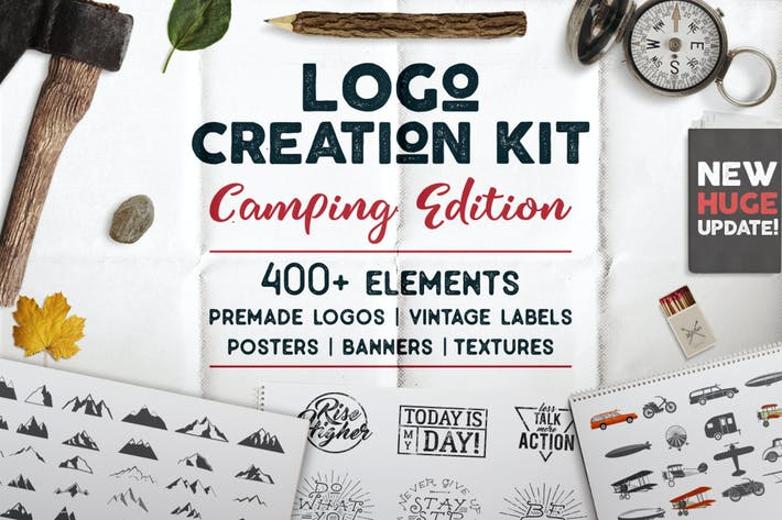 Thumbnail for Logo Template Creation Kit - Camping Edition