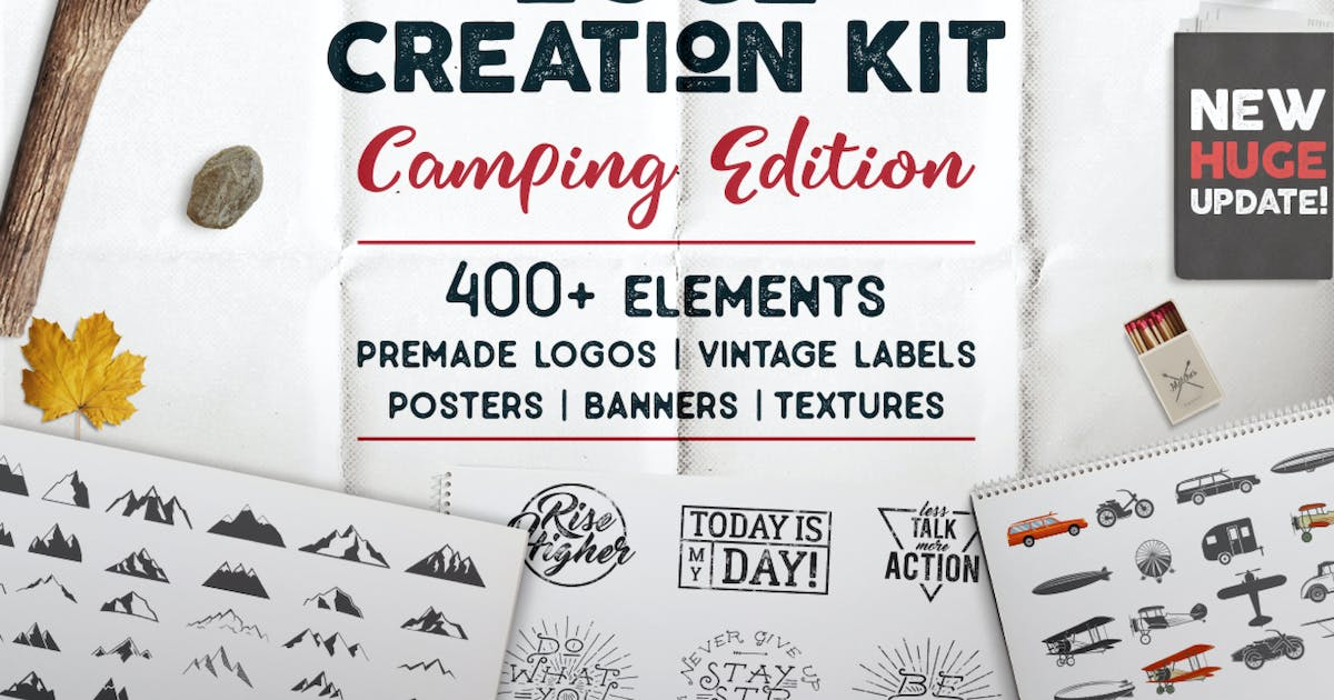 Download Logo Template Creation Kit - Camping Edition by JeksonJS