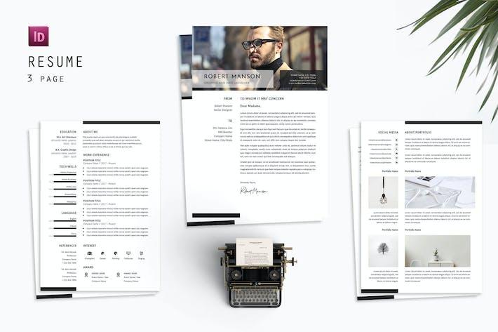 Thumbnail for Robert Web Resume Designer
