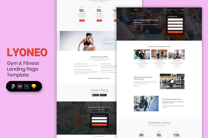 Thumbnail for Gym & Fitness - Landing Page Template