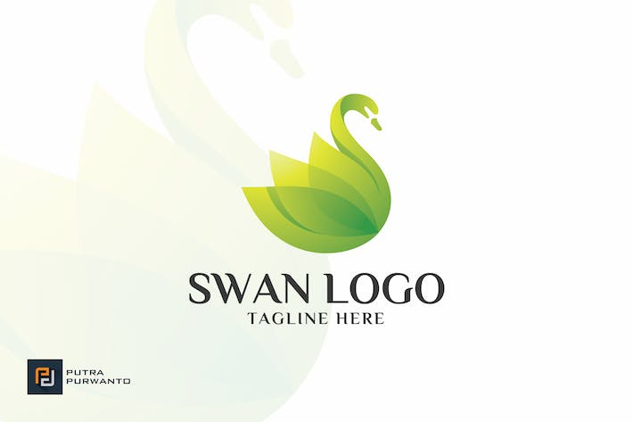 Cover Image For Colorful Swan - Logo Template