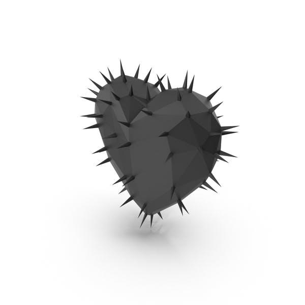 Любовь Сердце Шипы Черный