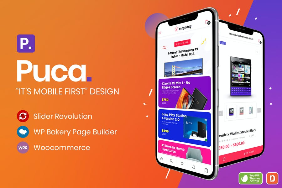 Puca - Optimized Mobile WooCommerce Theme - product preview 0