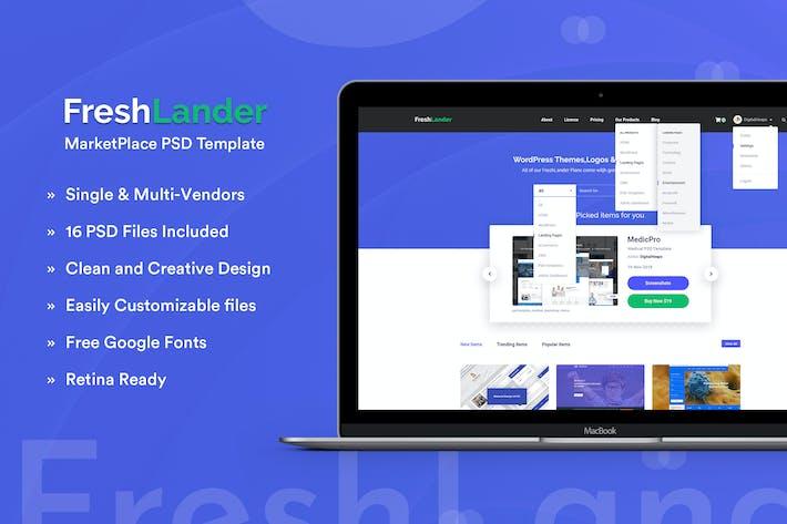 Thumbnail for FreshLander-Marketplace for Easy Digital Downloads