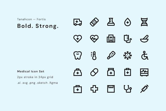 Thumbnail for UI Icon Set - Medizinisch