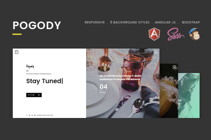 Thumbnail for Pogody – Responsive HTML5 Coming Soon Template